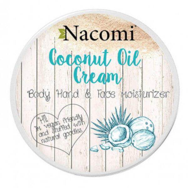 Nacomi Crème Visage Mains et Corps Huile de Coco 100ml
