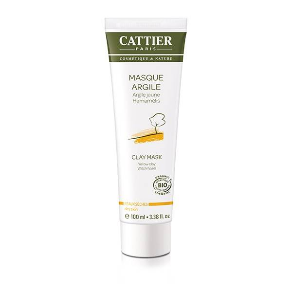 Cattier Masque Argile Jaune Hamamélis 100ml
