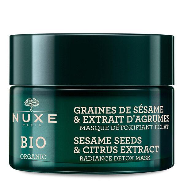 Nuxe Bio Masque Détoxifiant Eclat Graines de Sésame & Extrait d'Agrumes 50ml