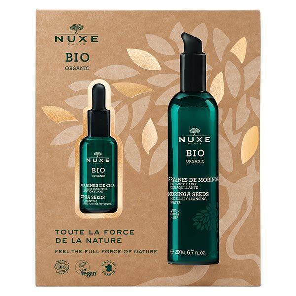 Nuxe Bio Coffret Sérum Essentiel Antioxydant Graines de Chia 30ml + Eau Micellaire Démaquillante Graines de Moringa 200ml