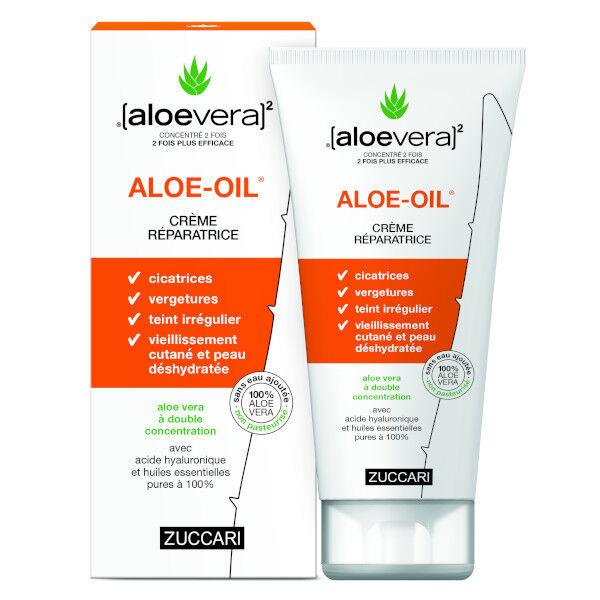 (aloevera)2 Zuccari Aloevera Zuccari Aloe Oil Crème Réparatrice 150ml