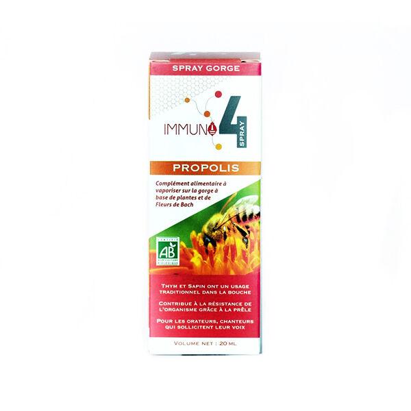 Laboratoire Mint-e Mint-e Immuno 4 Spray Gorge Propolis 20ml