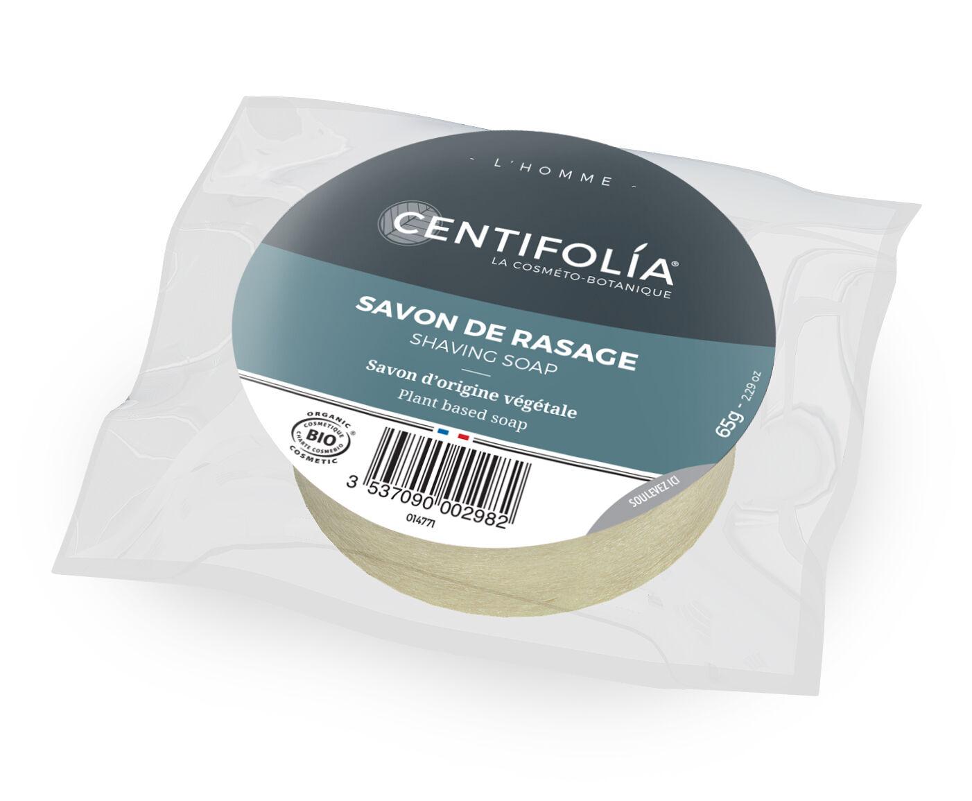 Centifolia Homme Savon de Rasage Sachet de Recharge Bio 65g