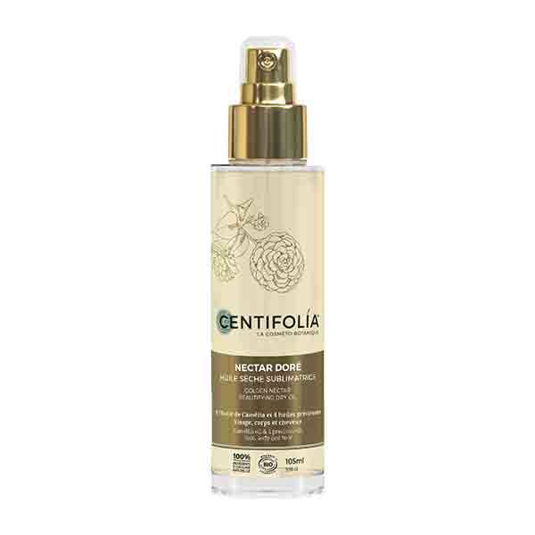 Centifolia Huile Sèche Sublimatrice Nectar Dore Flacon Spray 105ml