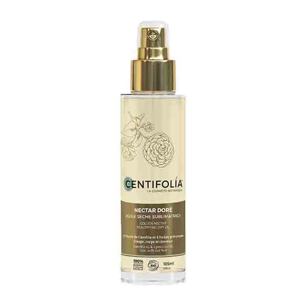 Centifolia Huile Sèche Sublimatrice Nectar Dore Flacon Spray 105ml