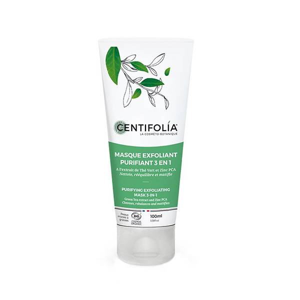 Centifolia Masque Exfoliant Purifiant 3 en 1 Bio 100ml