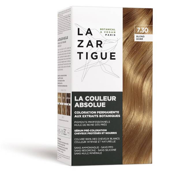 Lazartigue Couleur Absolue Coloration Blond Doré 7.30