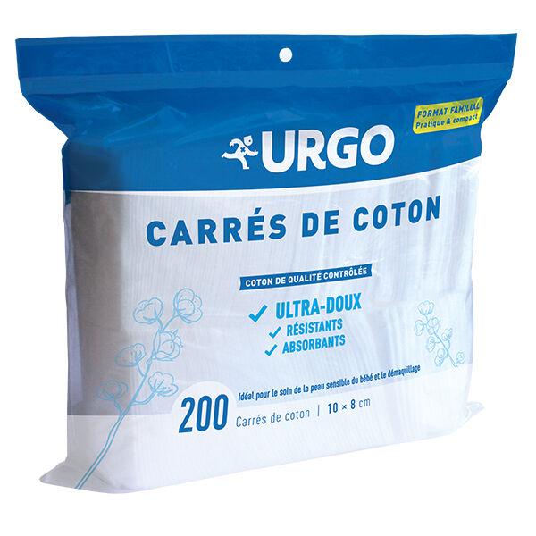 Urgo Premiers Soins Carrés de Coton Non Stérile 200 unités