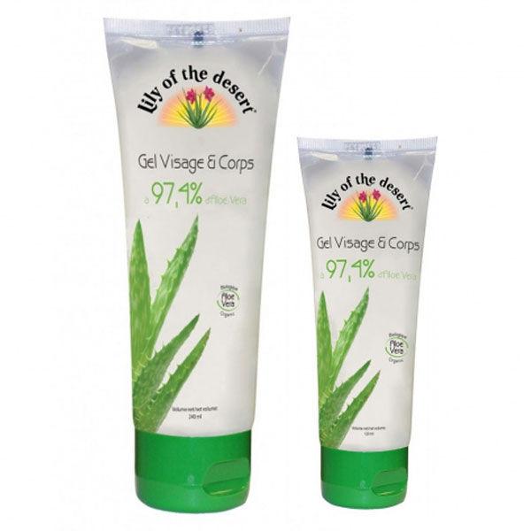 Lily of the Desert Gel d'Aloe Vera Hydratant 97,4% 240ml + 1 Gel 120ml Offert