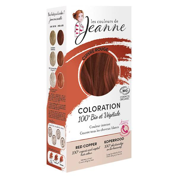 Les Couleurs de Jeanne Coloration Végétale Cuivré Rouge Bio 100g