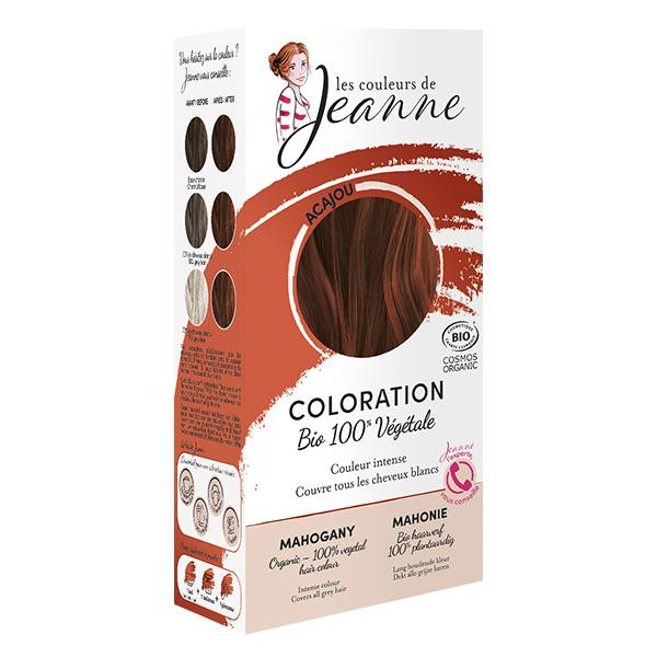 Les Couleurs de Jeanne Coloration Végétale Acajou Bio 100g