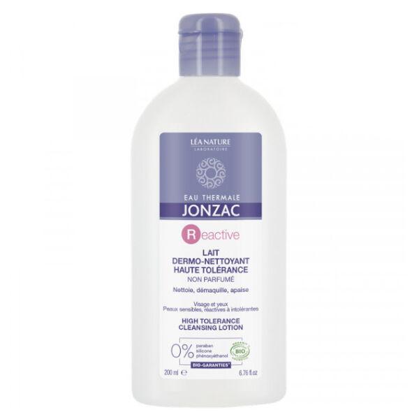 Jonzac Reactive Lait Dermo Nettoyant Haute Tolérance Bio 200ml