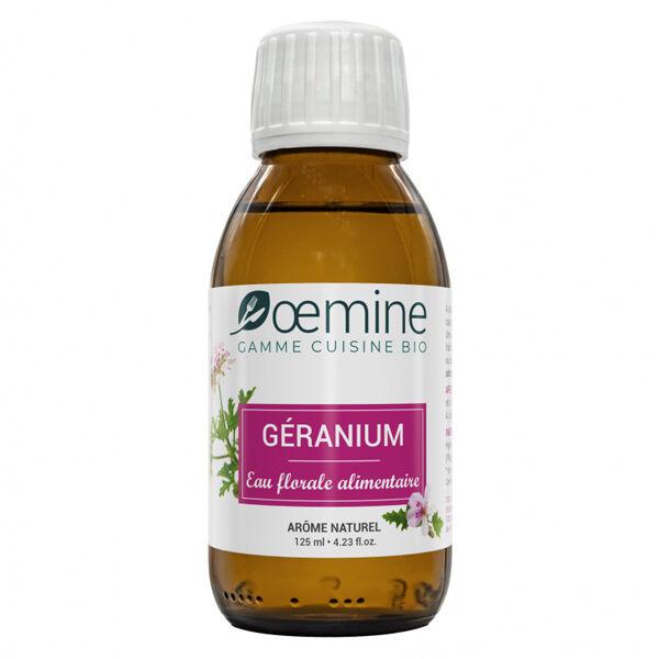 Oemine Eau Florale Alimentaire Géranium Bio 125ml