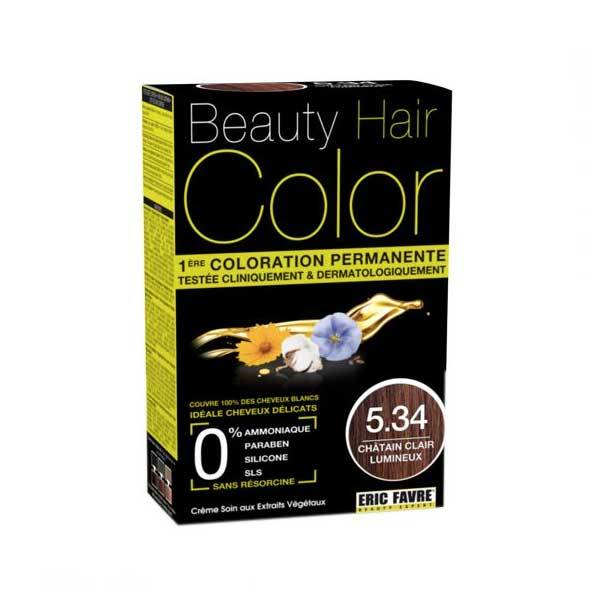 Beauty Hair Crème Color Châtain Clair Lumineux 5.34