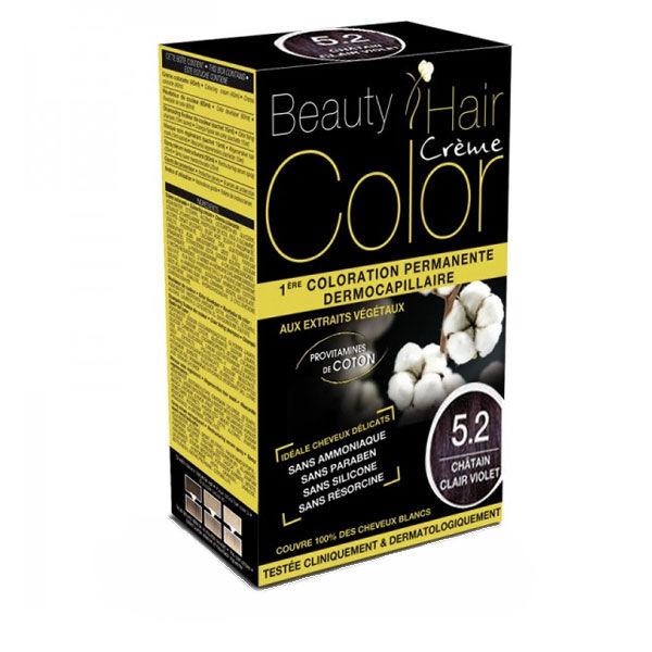 Beauty Hair Crème Color Châtain Clair Violet 5.2