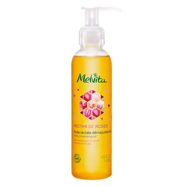 Melvita Nectar de Roses Huile Lactée Démaquillante Bio 145ml