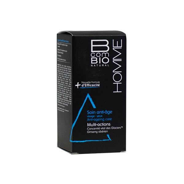 B com Bio Homme Soin Anti-Age Multi-Actions Ginseng Sibérien 50ml