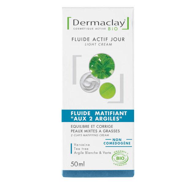 Dermaclay Fluide Matifiant 'Aux 2 Argiles' Peaux Mixtes à Grasses 50ml