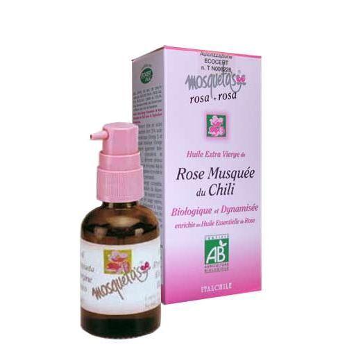 Mosqueta's Huile de Rose Musquée Enrichie en Huile Essentielle de Rose Bio 30ml