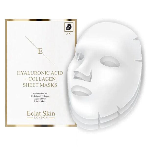 Eclat Skin London Masque à l'Acide Hyaluronique et au Collagène x3