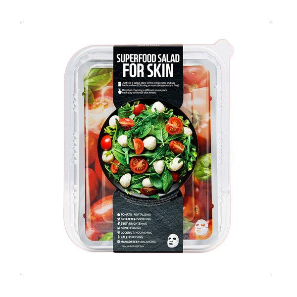 Superfood Pack 7 Masques SuperFood Tomate,Thé vert,Betterave,Olive,Noix de coco,Chou frisé,Mangoustan