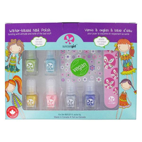 SunCoat Girl Kit Vernis à Ongles à Base d'Eau Vegan