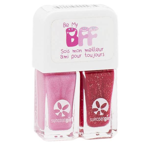 SunCoat Girl Be My BFF Duo Vernis Ballerina Vrai Rose 5ml + Rouge Paillettes Dorées 5ml