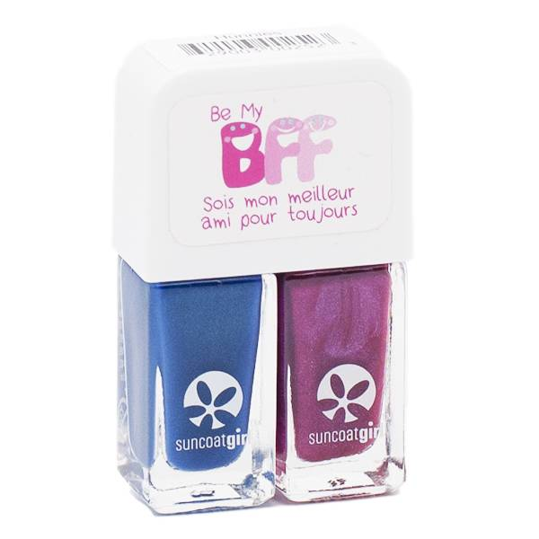 SunCoat Girl Be My BFF Duo Vernis Violet Foncé 5ml + Bleu Foncé 5ml
