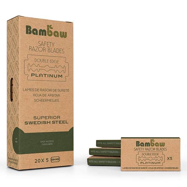 Bambaw Hygiène & Beauté Lames Pour Rasoir de Sureté 20 x 5 lames