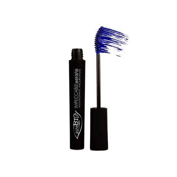 Purobio Cosmetics Mascara Impeccable Recourbant et Allongeant 02 Bleu 10ml