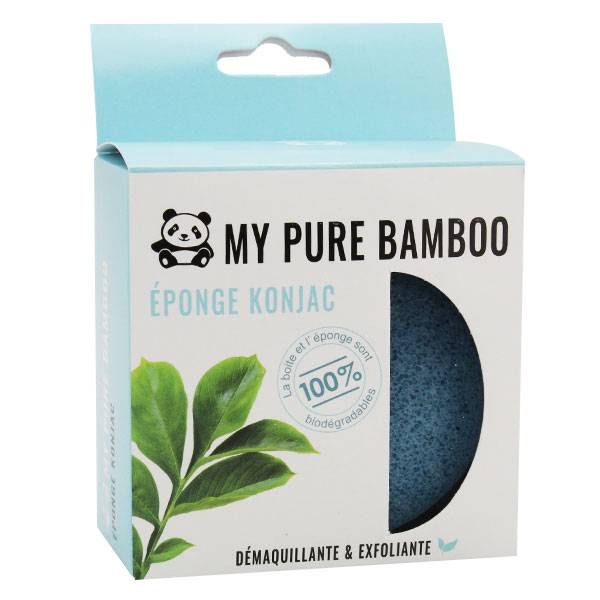 My Pure Bamboo Éponge Konjac Bleu