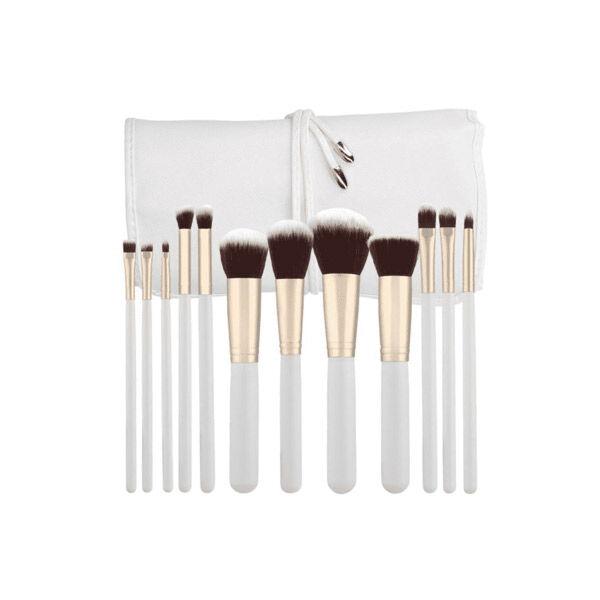 Tools for Beauty T4B Set 12 Pinceaux à Maquillage Kabuki Blanc