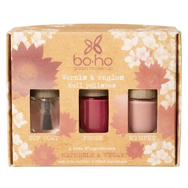 Boho Green Coffret Octobre Rose Vernis à Ongles 3 unités
