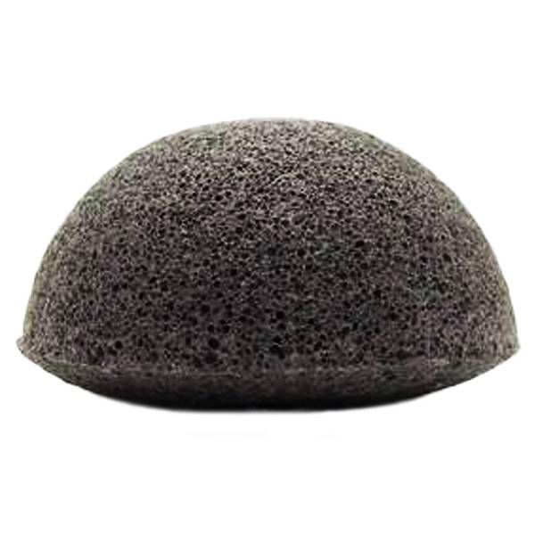 Nildor Eponge de Konjac Semi Circulaire Noire