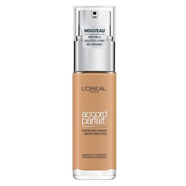 L'Oréal Paris Accord Parfait Fond de Teint Fondant Unifiant Perfecteur 6.5D Caramel Doré 30ml