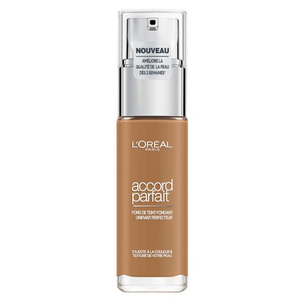 L'Oréal Paris Accord Parfait Fond de Teint Fondant Unifiant Perfecteur 8.5D Caramel 30ml