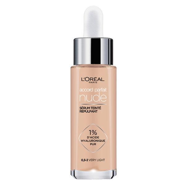 L'Oréal Paris Accord Parfait Nude Sérum Teinté Repulpant 0,5-2 Very Light 30ml