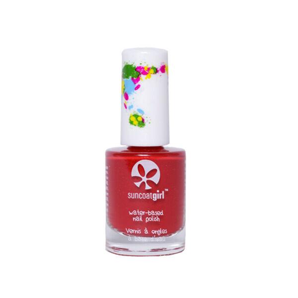 SunCoat Girl Vernis Rouge avec Paillettes Dorées 9ml