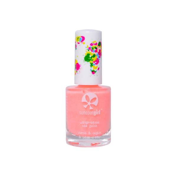 SunCoat Girl Vernis Vegan Corail Pailleté 9ml
