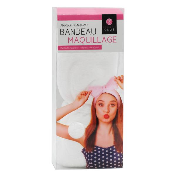 Lysse Make Up Bandeau Maquillage Nœud Blanc
