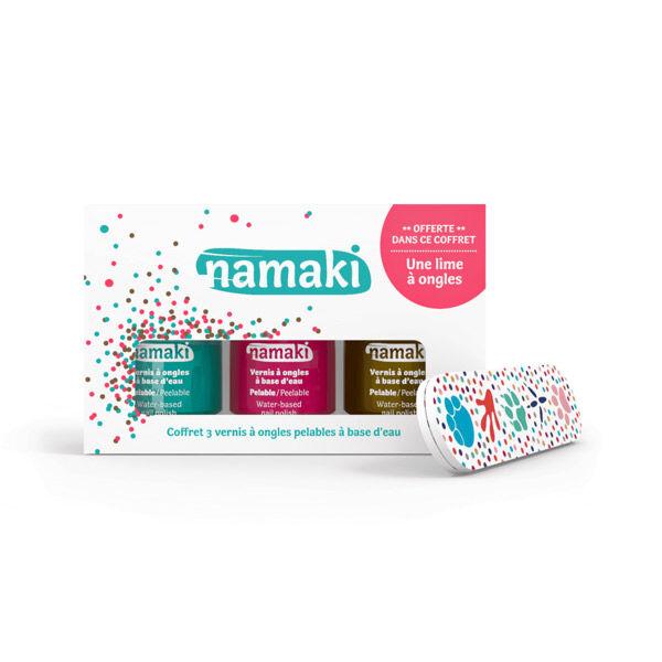 Namaki Coffret Vernis à Ongles Enfant Caraibes Corail Bronze + Lime à Ongles Offerte