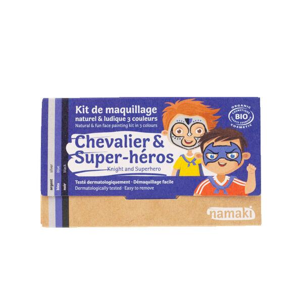 Namaki Kit de Maquillage Bio Enfant Chevalier et Super-Héros 3 couleurs