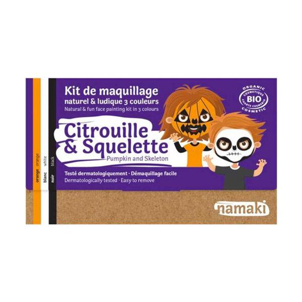 Namaki Kit de Maquillage Bio Citrouille et Squelette 3 couleurs