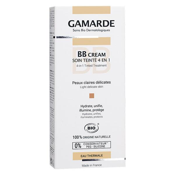 Gamarde BB Cream Soin Teinté 4 en 1 Peaux Claires Bio 40g