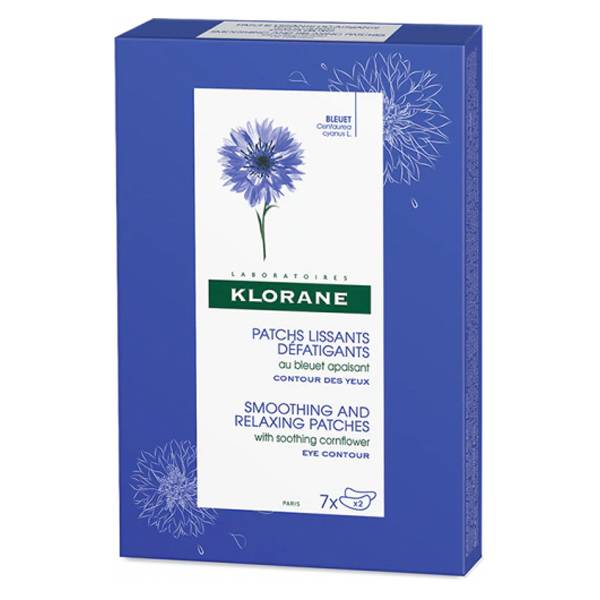 Klorane Bleuet Patchs Lissants Défatigants Contour des Yeux 7x2 patchs