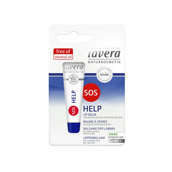 Lavera Baume à Lèvres SOS Help Urgence Lèvres Gercées Bio 4,5g