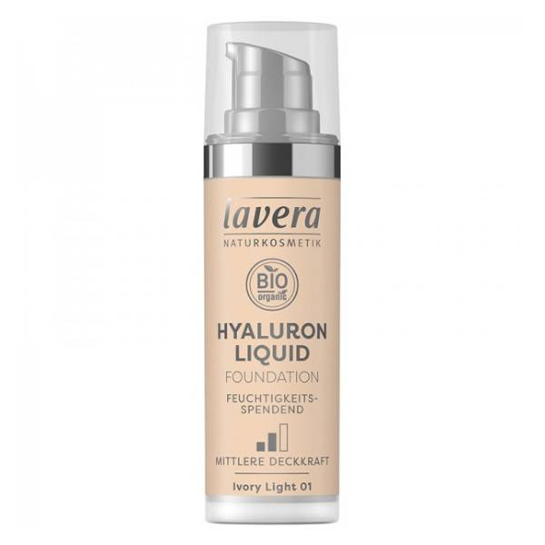 Lavera Fond de Teint Hyaluron Liquid Ivory Light 01 Bio 30ml