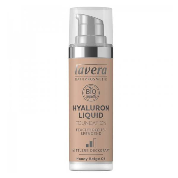 Lavera Fond de Teint Hyaluron Liquid Honey Beige 04 Bio 30ml
