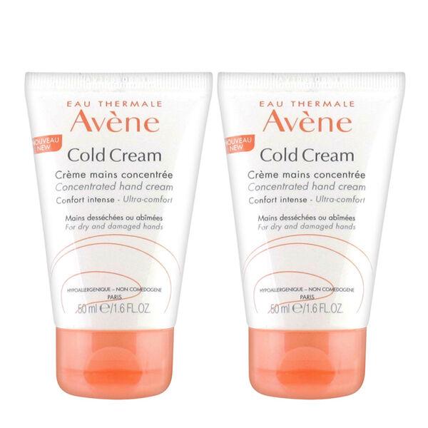 Avène Cold Cream Crème Mains Concentrée Lot de 2 x 50ml