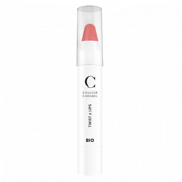 Couleur Caramel Twist & Lips Crayon à Lèvres Bio N°401 Beige Rouge 3g